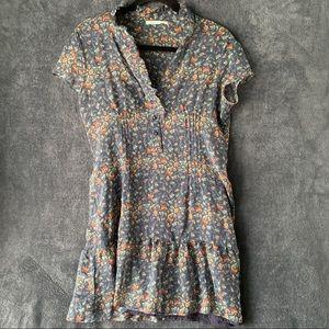 Kimchi Blue 100% Silk Floral Sheer Dress